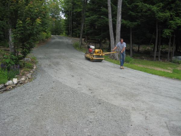 Bluestone driveway resurfacing by Razor Hill Excavation, Grafton, New Hampshire 03240